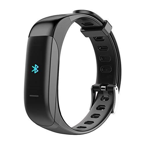 XMYL Rastreador de Fitness Auriculares Bluetooth 2 en 1 Multifuncional Pulsera Actividad Inteligente IP67 Impermeable Llamada de Soporte,para Teléfono Inteligente Android Samsung Huawei,Black