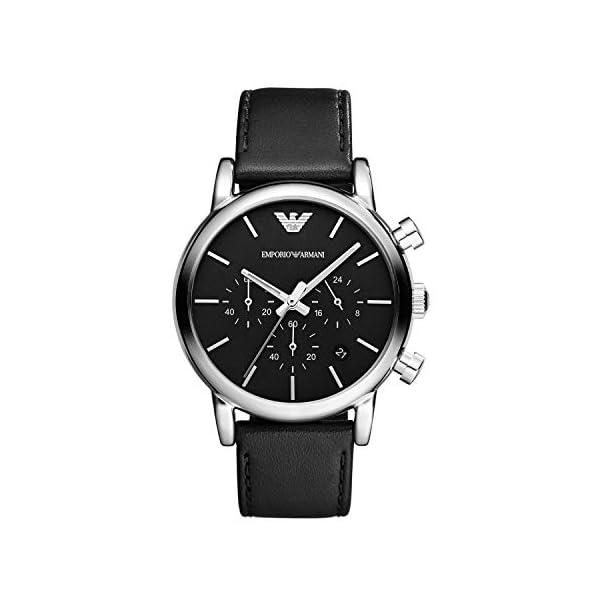 Emporio Armani Reloj cronógrafo para hombre con movimiento de cuarzo