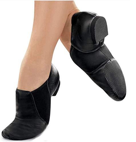 Jazz Shoes [Terra] Dance Shoes Rubber Side Slip On Side Gore Black [Minyon] (22.5cm (35))