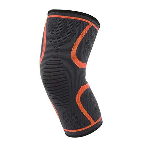 Toygogo Rodillera Menisco Ligamento Deportivo Protector de Rodilla Transpirable Compresión Soporte para Correr Senderismo - XL naranja