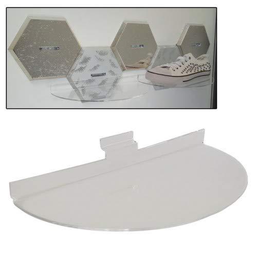 Kit de 5 estantes de plexiglás redondos para zapatos, calzado, para panel de lamas, armarios, decoración de tiendas