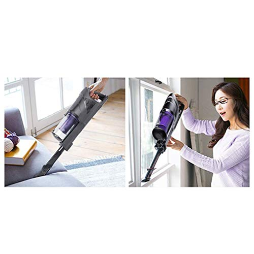 Best Review Of BBG Household Goods,Vacuum Cleaner Two in One Hand-Held/Push Rod Vacuum Cleaner Compact and Quiet 120W High Power Rechargeable Lithium-Ion Battery,High Edition