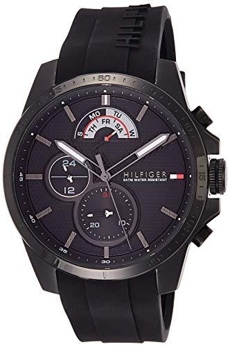 Tommy Hilfiger Herren-Armbanduhr Decker, schwarz