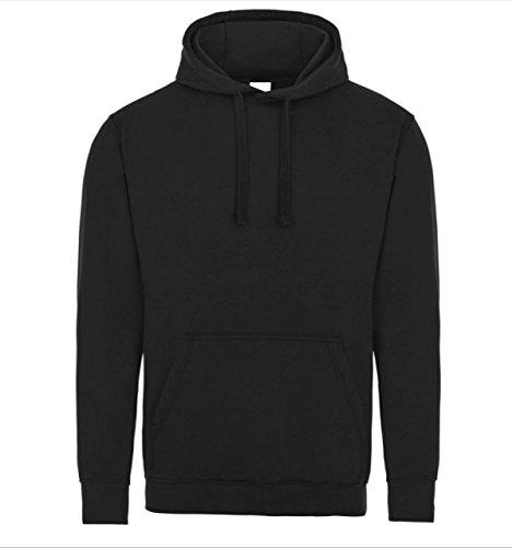 Plain Black Pullover Unisex Hoodie Hooded Top Hoodie for Mens and Womens Hooded Sweatshirt M