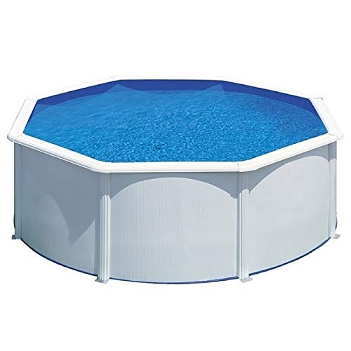 Starpool Gre Star Pool piscina redonda 300 x 120 cm de acero blanco con refuerzos - Sin