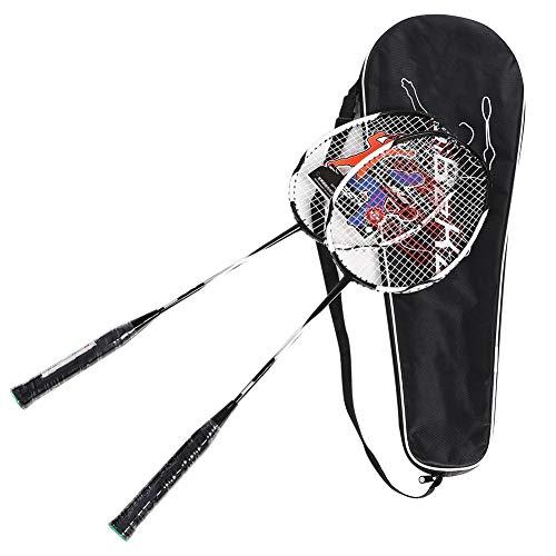 Yosoo Health Gear Badmintonschläger 2er-Set, 1 Paar Badmintonschläger, Badmintonschläger für Amateure und Erwachsene Fitnessball-Trainingsschläger Carbon Aluminiumlegierung