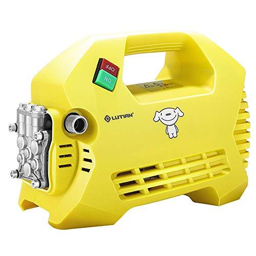 Électrique Haute Pression Machine À Laver Maison 220V 1400W IPX5 Étanche Induction Réduction Du Bruit Pompe De Lavage De Voiture Portable Pistolet À Eau (Jaune) (Couleur : NOIR)