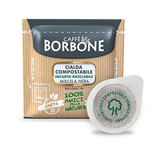 Caffè Borbone Café Monodosis Compostable, Envase Reciclable, Mezcla Negra - 150 bolsitas - Sistema ESE