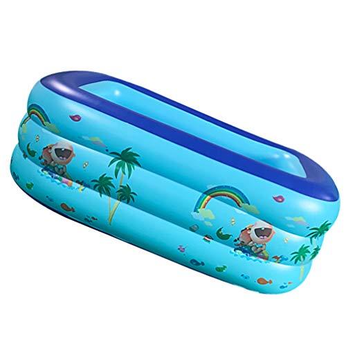CLISPEED Piscina Inflable Piscinas para Niños Centro de Natación Juguetes de Agua Al Aire Libre Juego de Diversión de Verano para Bebés Y Niños Pequeños 125X95cm