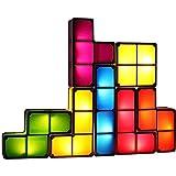 HTZ-M Luz Nocturna LED, Luz Cuadrada Apilable, Bloques De Construcción De 7 Colores Juguetes De Rompecabezas Habitación Infantil Dormitorio Decoración Familiar Regalos Navideños