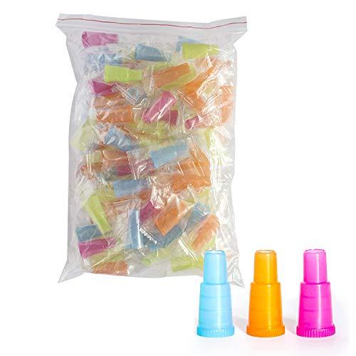 Kraeoke - Boquilla higiénica desechable para cachimba de plástico multicolor para Hookah, 100 unidades
