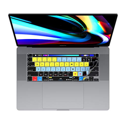 Serato Scratch Live/DJ Keyboard Cover for 13' & 16' MacBook Pro 2020+   Genuine Shortcut Cover by Editors Keys   Will not fit other MacBook models