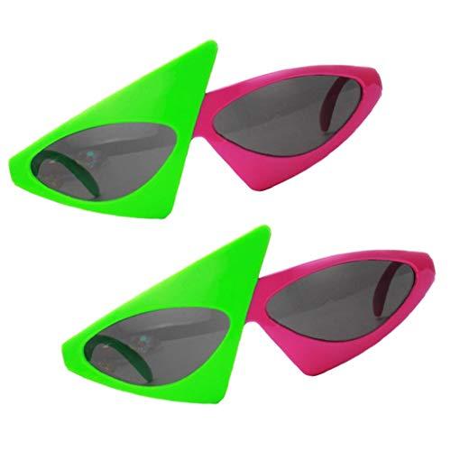 F Fityle 2x Gafas de Sol Novedad Party Divertidas Disfraces Foto Brillante Adornos Diseño Único Costura Ropa
