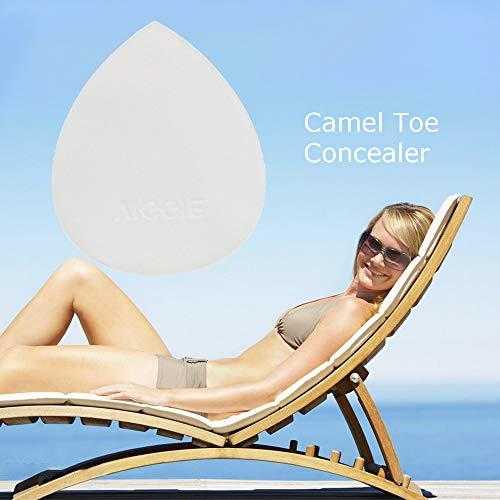 zroven Corrector de silicona para los dedos del pie, reutilizable, sin dejar rastro, invisible, para mujer, leggings, bañador absorbente de sudor