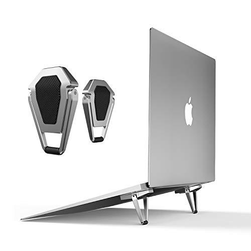 Portable Invisible Laptop Stand-2PCS,SUNTAIHO Mini Aluminum Cooling...