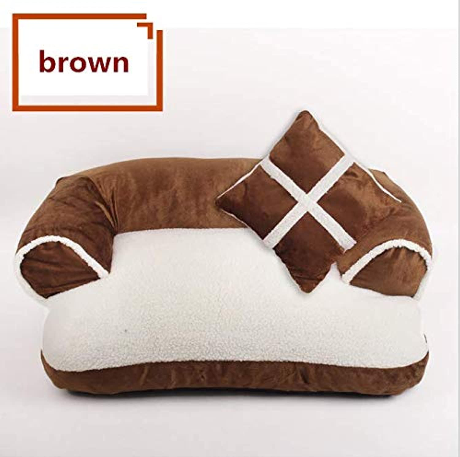 GaObet Self Warming Cat and Dog Bed Cushion for Medium Large Dogs (L 655533;8060cm /31.423.6in, Brown U)