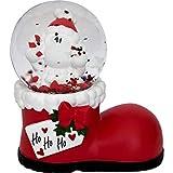 Die Geschenkewelt 49794 Traumkugel Nikolaus-Stiefel, Höhe 7,5 cm, Weiß, Rot