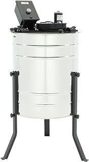 LYSON 4-Waben Honigschleuder Diagonalschleuder Durchmesser600 elektrisch, universal, Honigextractor mit elektrischem Antrieb aus säurebeständiger Edelstahl, Tangentialschleuder für 4 Rähmchen