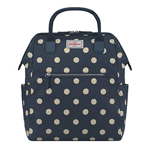 Cath Kidston Frame Backpack Button Spot Navy