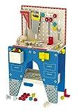 Leomark Conjunto de Madera de Carpintero - Don Juan - Taller, Mecánico de carpinteros jóvenes con Herramientas, Juguete para niños, Accesorios, Alto: 80,5 cm
