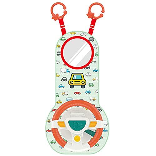 Wolfberrymetal Volante de Coche, bebé, niños, simulación eléctrica, Volante, Juguete, conducción, Interactivo,...