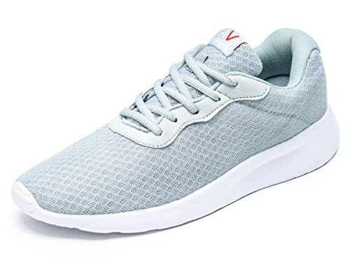 AONVOGE Laufschuhe Herren Schuhe Outdoor Walkingschuhe Straßenlaufschuhe Tennis Turnschuhe Sneaker Joggingschuhe Fitness Leichtgewichts Sportschuhe, Grau 42 EU