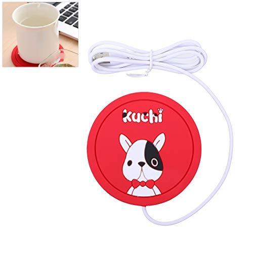 Macabolo lieve cartoon dier USB-verwarming siliconen onderzetter koffie thee drinken warmer ijs antislip mok pad 9cm hond