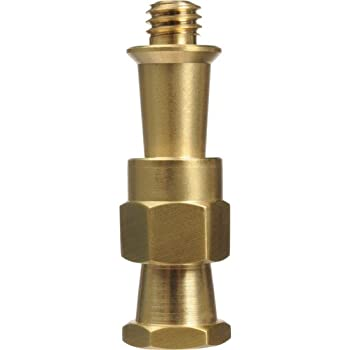 Foto/&Tech Brass Spigot Short Double Female Stud for Super Clamps with 1//4-20 /& 3//8 Threads