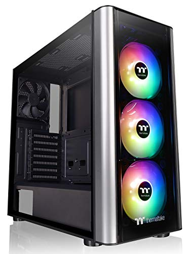 Thermaltake Level 20 MT Motherboard Sync ARGB ATX Mid Tower Gaming Computer Case with 3 120mm ARGB 5V Motherboard Sync RGB Fans +1 120mm Rear Fan Pre-Installed CA-1M7-00M1WN-00, Black (Personal Computers)