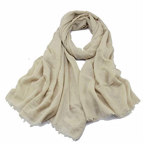 Moda Bufanda Chal Los hombres y las mujeres de algodón de la Lepra de la bufanda de primavera y otoño sección delgada sólida simple propósito Negro Color Gris oscuro Protector solar mantón dual Bufand