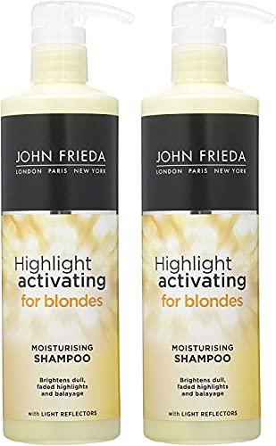 John Frieda Highlight Activating for Blondes Feuchtigkeitsspendendes Shampoo und Conditioner, 2 x 500 ml
