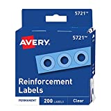Extend the life of your 3-hole punched pages with durable poly-vinyl hole reinforcement labels designed to strengthen and repair standard-size punched holes Maintain a clean look with clear page reinforcement stickers that reinforce and repair withou...
