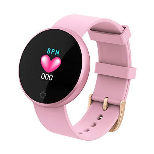BNMY Smartwatch Mujer Reloj Inteligente Pulsera De Actividad Impermeable Pulsómetros Elegante Reloj Inteligente Fitness Reloj Metal Monitoreo del Sueño Notificación Compatible con Android iOS,Rosado