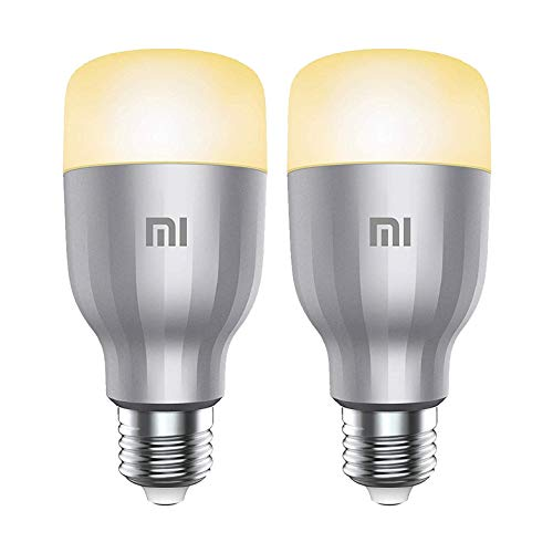 Xiaomi Mi LED Smart Bulb White And Color Kit da 2 Lampadine, WiFi (Non Richiede HUB), Compatibile con Google Home, Alexa e Apple HomeKit, [Versione Italiana] E27, 10 W
