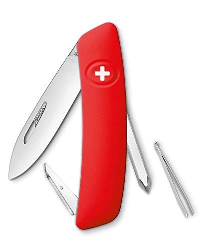 SWIZA Schweizer Messer D02 rot Gesamtlänge: 16.7cm, 75 mm