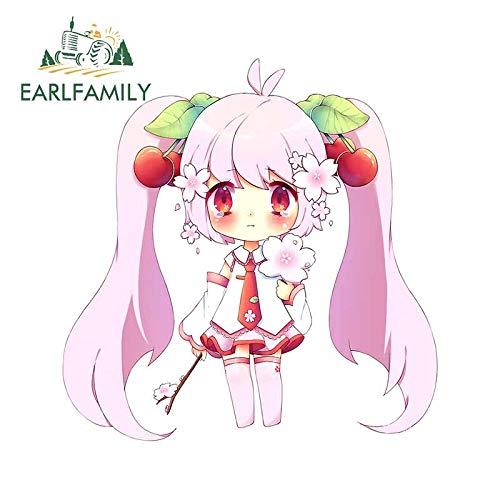A/X 13 cm x 12,8 cm für Hatsune Miku Sakura Blossom Autoaufkleber Stoßstangenaufkleber Laptopgrafiken wasserdichte RV Vinyl Autoverpackung