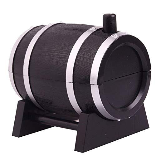 DASHUAI Soportes para Palillos Dientes Tipo Barril Vino Estuche para Palillos Dientes Automático Dispensador Cubos Presión Selección Dientes Caja para Hisopos Algodón