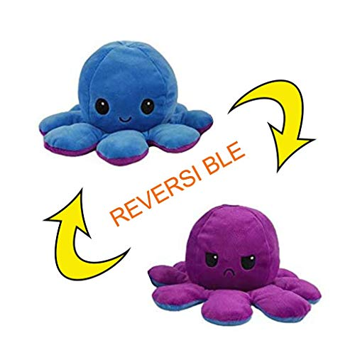 DENGZI Peluche de Pulpo Reversible-Bonitos Juguetes de Peluche muñeco de peluche juguetes creativos el Pulpo Reversible Original de Felpa Regalos de Juguete para niños cumpleaños Navidad