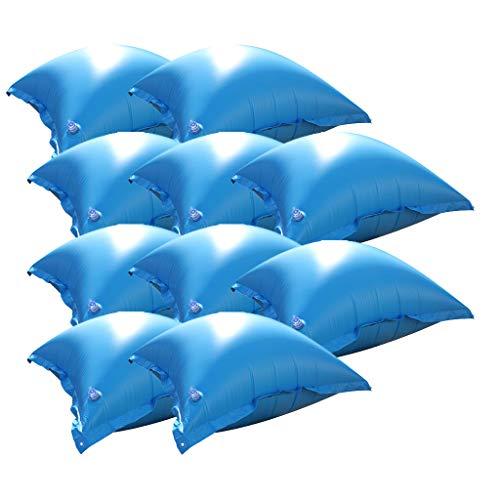 well2wellness 10 x Luftkissen, Winterkissen und Poolkissen für Pool Abdeckplane - jetzt mit neuem Ventil