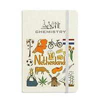 オランダの風景の動物の国旗 化学手帳クラシックジャーナル日記A 5