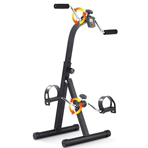 AMAZOM Pedale Pieghevole con Display LCD Multifunzionale, Mini Braccio Gamba Cyclette Piede Mano Ciclo Macchina Stazionaria Portatile Bicicletta Ginnico per Anziani Uomini Donne