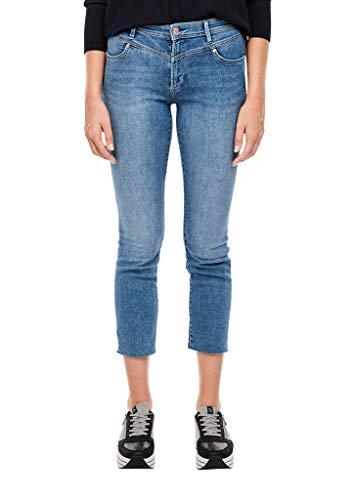s.Oliver Damen Slim Fit: Jeans mit Sattelbund Blue 44