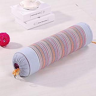 Zhangl Textile de Maison Cervical Vértebra enfermería Raya Larga Almohada de Trigo sarraceno Almohadas de algodón de Almohadas for Dormir (Rojo) Textile de Maison (Color : Grey)