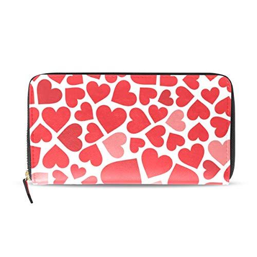MONTOJ Damen Portemonnaie mit roten Herzen