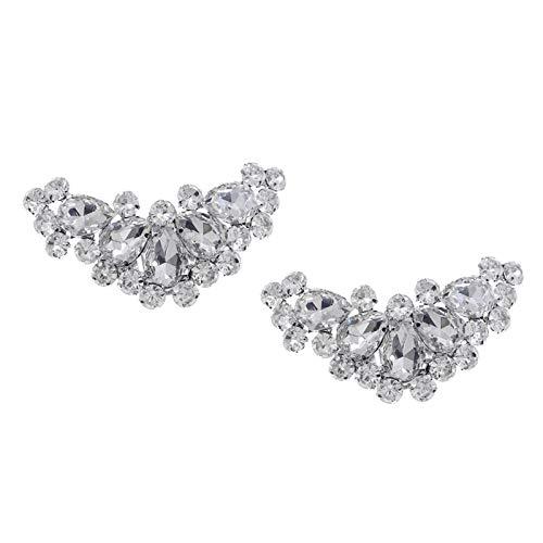 yotijar Par de Hebillas de Zapato de Cristal con Diamantes de Imitación...