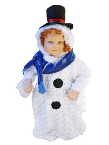 F61 Taglia 2-4M (62-68cm) Costume da Pupazzo di Neve per bambini e neonati, indossabile comodamente sui vestiti normali