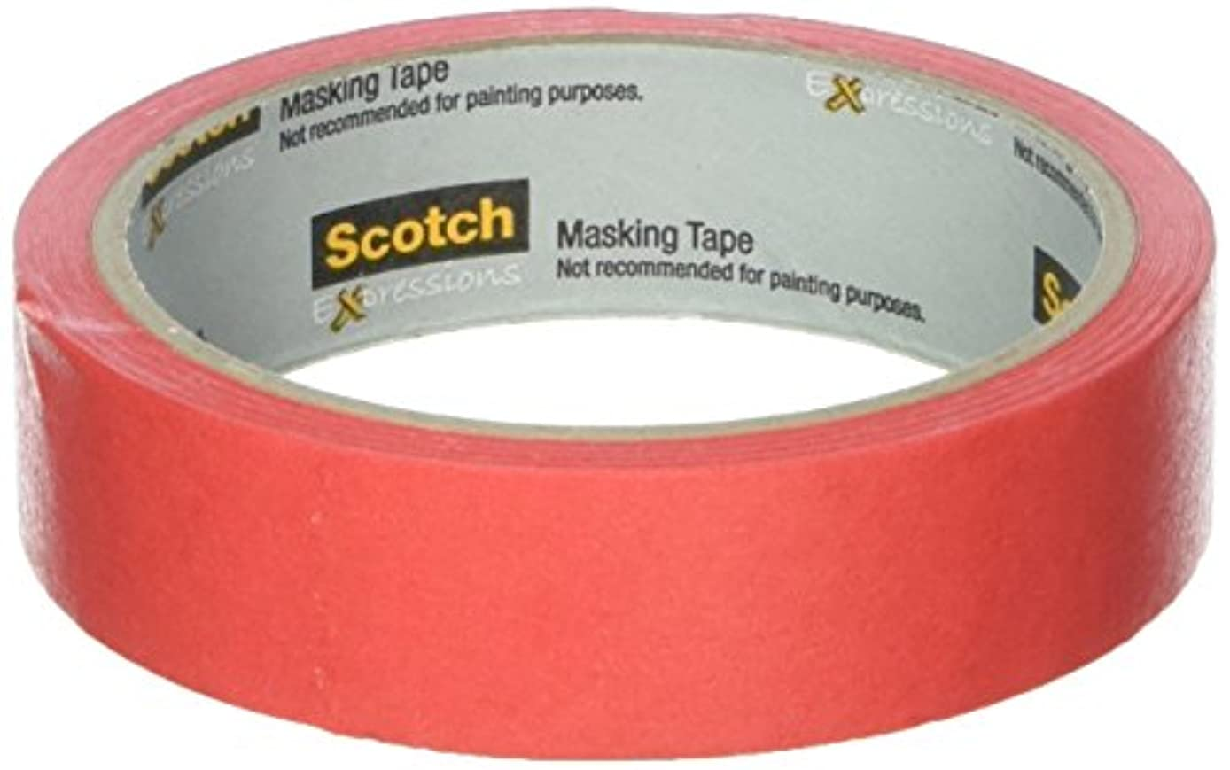 Scotch Expressions Masking Tape, 0,94-Inch x 20-Yards, Primary Red (MMM3437PRD) … (2 Pack)