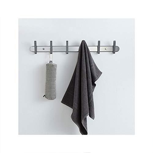 Perforatie-vrije ruimte aluminium afneembare deur haak, jas haak kleverige haak sterke naadloze muur Hanger haak