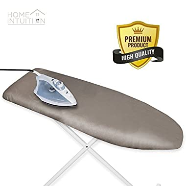 Home Intuition Scorch Resistant Silicone Coated Ironing Board Cover and Pad (Any Color Will Do)