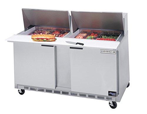 飲料用空気食品準備テーブル SPE60 Eliteシリーズ メガトップ 幅60インチ - SPE60HC-24M